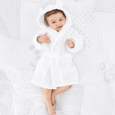 Hydrocotton Baby Robe | The White Company. Shopping from the US? -> http://us.thewhitecompany.com/The-Little-White-Company/Baby-Accessories/Hydrocotton-Baby-Robe/p/HYTDA?swatch=White