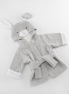 Carters Just One You Made Unisex Baby Animal Hooded Bath Robe Grey Sheep