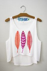 This is one of my favorites on fresh-tops.com: Feathers Croptop