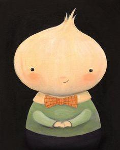 Ollie Onionhead, a new portrait from Emily Winfield Martin's Oddfellows