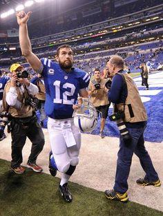 Jan 4, 2015; Indianapolis, IN, USA; Indianapolis Colts--  #ProFootballIndianapolisColts
