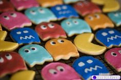Pac Man Cookies...also, not cake...but, come on, this took dedication and skill!