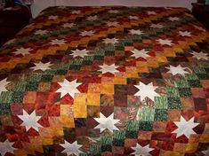 I started this quilt quite a few years ago and just picked it back up. I think if I had realized how many seams there were to match up that I would have never finished cutting it out. I think after…