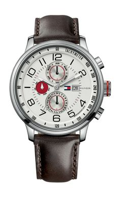 Tommy Hilfiger nautical watch. Love the red