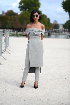 Nicole Warne on the streets in Paris. @roressclothes closet ideas #women fashion outfit #clothing style apparel