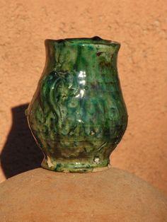 Vase; Vase, Ceramics, Stone, Green, Home Decor, Ceramica, Pottery, Rock, Decoration Home