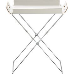 FormosaTrayTableWhtS7. Cheap and lovely tray table from CB2.