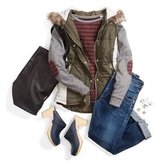 Love - Stitch Fix, these are the types of casual shirts I'm looking for for maternity leave. Love the vest too.