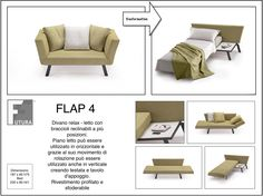Relaxing Sofa - Bed with reclining armrests in multiple locations. Bed can be used in horizontal And in vertical   #futura #italiandesign #architect #architecture #interior #interiordesign #design #residential #luxury #house #home #style #modernfurniture #classicfurniture #minimalist #archlife #archilovers #architexture #innovation #creativity #furnish #instadesign #instahome #instadecor #decor #furniture #italianfurniture #homedecor #contract #fashion