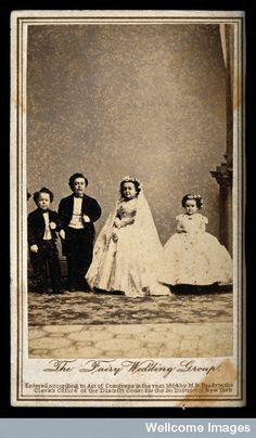 """Tom Thumb's"" wedding party in New York. He married Mercy Lavinia Warren Bump in 1863."