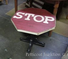 Stop sign table by Sara