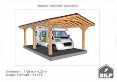 Le plan de votre CARPORT / PRÉAUX / AUVENT sur mesure Plan Carport, Simulation 3d, Plane, Loft, Furniture, Home Decor, Study Desk, Car Shed, Wood Construction