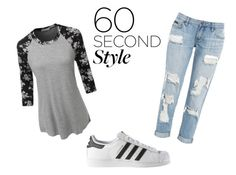 """""""60 second style"""" by sopfus09 ❤ liked on Polyvore featuring LE3NO, adidas, DRAKE, views and 60secondstyle"""