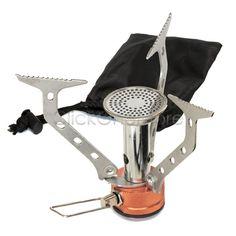 Mini Portable Camping Gas Stove Picnic BBQ Burner Secure Cookware AU