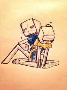 Minecraft Drawings, Cute, Drawings, Minecraft Designs, Kawaii