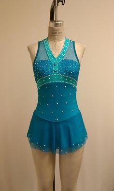 Del Arbour Beaded D95a Skating Dress