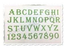 $2.95Algerian Machine Embroidery Font Alphabet