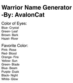 4th Cat: Comment your name.