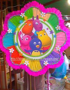 Invitaciones, Recuerdos, cotillones, piñatas, dispensadores y mucho mas...: Piñata Backardigans y Cotillones de mdf