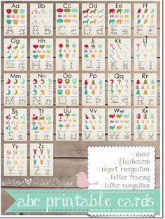 26 Free Printable Alphabet Cards