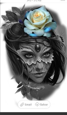 US SELLER great tattoos Halloween sexy women rose big tempoary tattoo Lettrage Chicano, Chicano Art Tattoos, Skull Tattoos, Rose Tattoos, Girl Tattoos, Sleeve Tattoos, Hand Tattoos, Buddha Tattoos, Tattoo Ink
