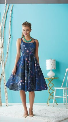 Paper pieced dress - free sewing pattern (members)