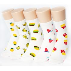 5pairs(5color)=1pack FRUITS FASTFOOD SOCKS Made in KOREA women woman girl kids #MADEINKOREA #allStyle