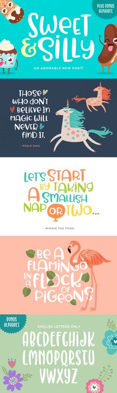 Sweet & Silly - Introducing: Sweet & Silly! An adorable font that will bring a smile to your face every tim...