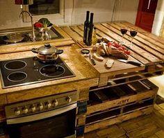 cozinhas feitas de paletes passo a passo - Pesquisa Google