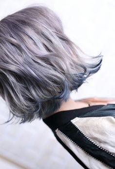 Inspiring Pastel Hair Color Ideas – My hair and beauty Hair Color Asian, Asian Hair, Cool Hair Color, Asian Bob, Hipster Hair Color, Undone Look, Hair Arrange, Pastel Hair, Blue Hair