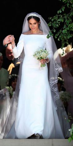 Meghan Markle Wedding Dresses And Their Twins ❤ See more: http://www.weddingforward.com/meghan-markle-wedding-dresses/ #weddingforward #bride #bridal #wedding