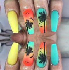 80 Most Epic Nail Art Ideas Ever For Coffin Shaped Nails 80 Most Epic Nail Art Ideas Ever For Coffin Shaped Nails,nail art Creative Nail Art Ideas To Blow You Away Cute Gel Nails, Dope Nails, Swag Nails, Crazy Nails, Crazy Summer Nails, Crazy Nail Art, Grunge Nails, Fancy Nails, Bling Nails