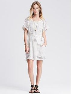 White Lace Dress | Banana Republic