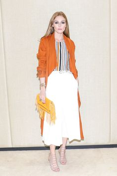 As far as we're concerned Olivia Palermo is like a walking Pinterest board. The well-dressed social swan and website owner is full of style and outfit ideas, offering endless inspiration for solving the trickiest of fashion problems. This season, look to Palermo for different ways to wear prints and patterns like real pro. If you're a print-wearing novice, take a cue from Palermo and start with small checks, as they're incredibly figure-flattering. Show some skin to break up the d...