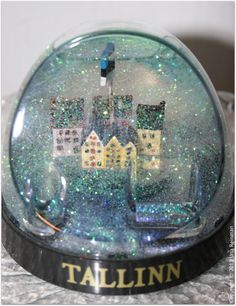 Snow Globe From Estonia, Tallinn.