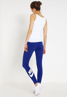 low priced aadc9 5cbee Nike Sportswear LEG-A-SEE - Leggings - bleu foncé blanc for with free  delivery at Zalando