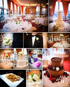 Details board white wedding at City Club of Fort Worth.  Hunting themed grooms cake.  White flowers.  TCU horned frogs.