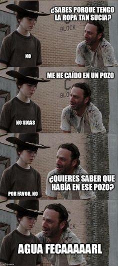 Si te gusta The Walking Dead y los chistes malos, este post es para ti. A continuación te presentamos 22 memes que relatan los chistes malísimos de Rick de The Walking Dead.