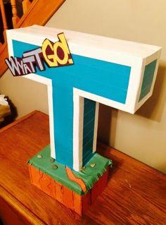Wyatt's Teen Titans Go! Valentine box.