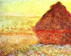 Claude Monet : Haystack at the Sunset near Giverny, Oil  (1840-1926, France)