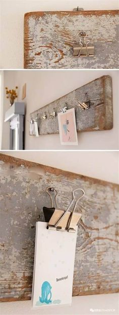 Rustic Bedroom Design and Decor Idea for Memo Clips