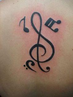 Tatuajes De Letras Musicales Y Notas En El Cuello Y La Muñeca