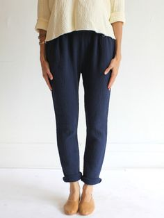 MILLE | Black Crane Quilt Pant - All colors