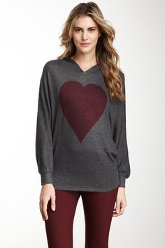 I just want pumpkin sweater   Go Couture  Pink Heart Dolman Hoodie
