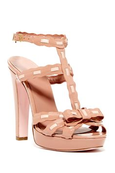 Woven Patent Sandal