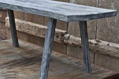 Reclaimed Wood Sitting Bench Whitewashed by brandmojointeriors, $265.00