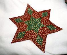 Obi / hviezda bordovo zelená