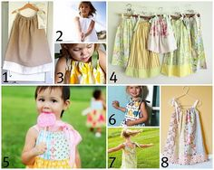 links to pillowcase dress sewing tutorials