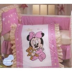 Crib bedding set disney minnie mouse disney baby disney princess