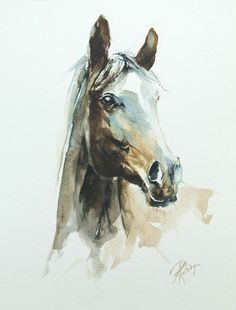 ARTFINDER: Horse portrait by Andrzej Rabiega – horse portrait – watercolor ARTFINDER: Pferdeportrait von Andrzej Rabiega – Pferdeportrait – Aquarell Watercolor Horse, Watercolor Animals, Watercolor Portraits, Watercolor Trees, Simple Watercolor, Watercolor Landscape, Watercolor Background, Abstract Watercolor, Tattoo Watercolor